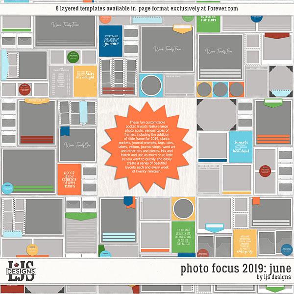 Photo Focus 2019 - June Digital Art - Digital Scrapbooking Kits