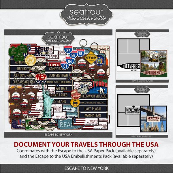 Escape to New York Digital Art - Digital Scrapbooking Kits