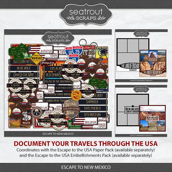 Escape to New Mexico Digital Art - Digital Scrapbooking Kits