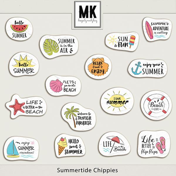 Summertide Chippies Digital Art - Digital Scrapbooking Kits