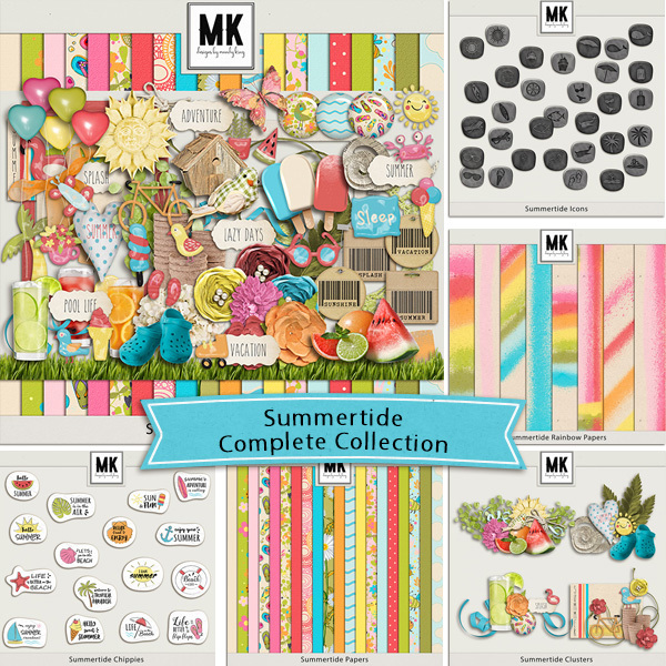 Summertide Complete Collection Digital Art - Digital Scrapbooking Kits
