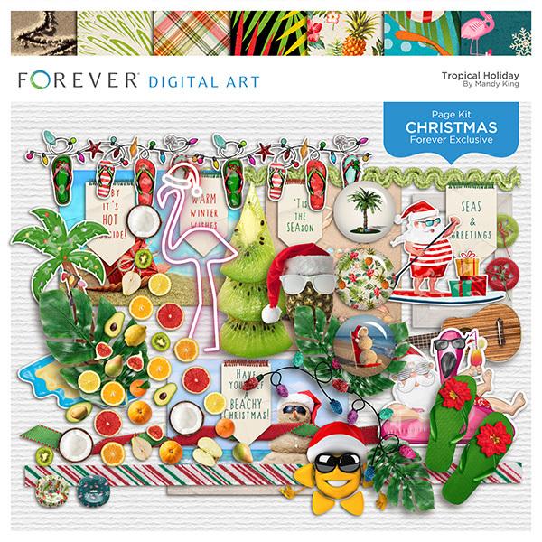 Tropical Holiday Digital Art - Digital Scrapbooking Kits