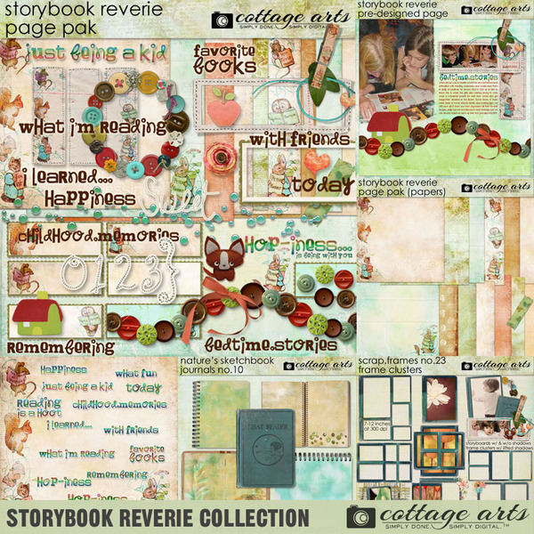 Storybook Reverie Collection Digital Art - Digital Scrapbooking Kits