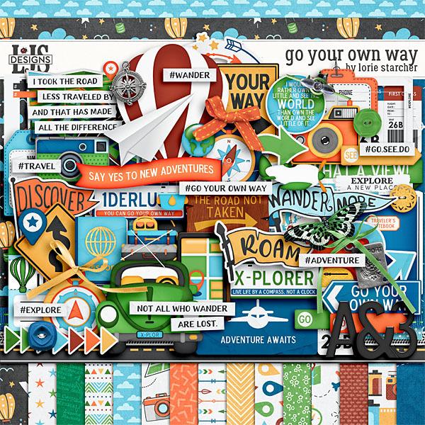 Go Your Own Way Digital Art - Digital Scrapbooking Kits