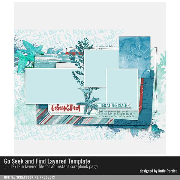 Go Seek and Find Layered Template Digital Art - Digital Scrapbooking Kits