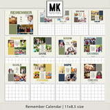 Remember Calendar 8.5x11