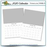 2020 11x8.5 Blank Calendar Template