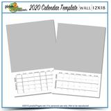 2020 12x18 Blank Calendar Template