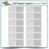 2021 10x4 Blank Calendar Template