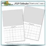 2021 11x8.5 Blank Calendar Template