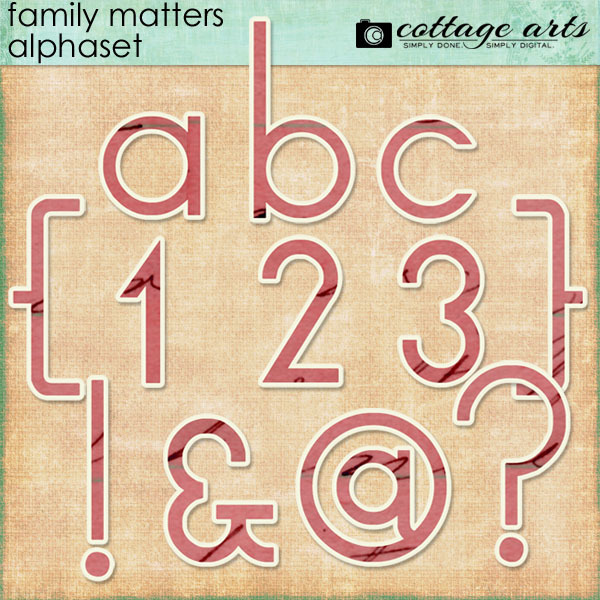 Family Matters AlphaSet Digital Art - Digital Scrapbooking Kits