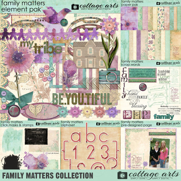 Family Matters Collection Digital Art - Digital Scrapbooking Kits