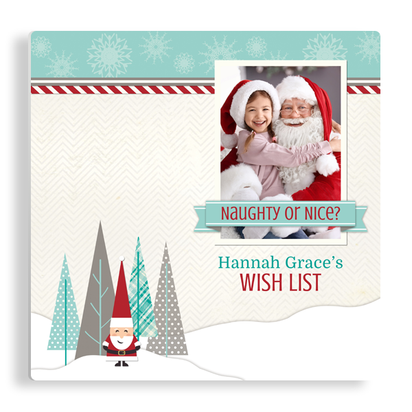 Wish List for Santa Panel Panel