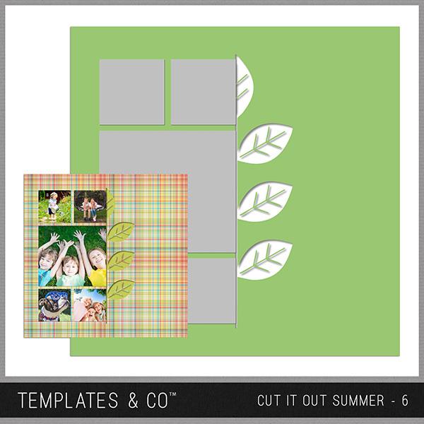 Cut It Out Summer - 6 Digital Art - Digital Scrapbooking Kits