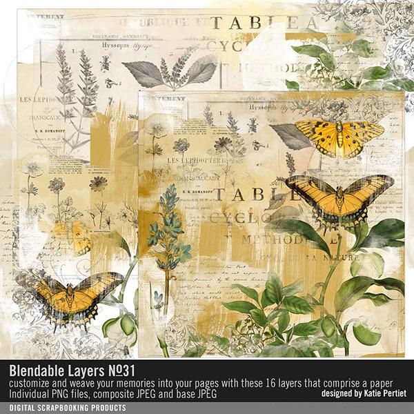 Blendable Layers No. 31 Digital Art - Digital Scrapbooking Kits