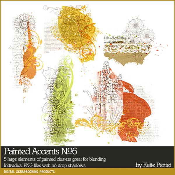 Painted Accents No. 06 Digital Art - Digital Scrapbooking Kits