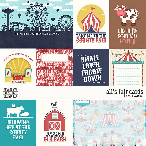 All's Fair Cards Digital Art - Digital Scrapbooking Kits