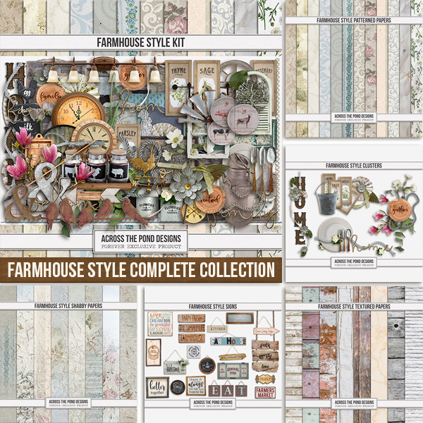 Farmhouse Style Complete Collection Digital Art - Digital Scrapbooking Kits