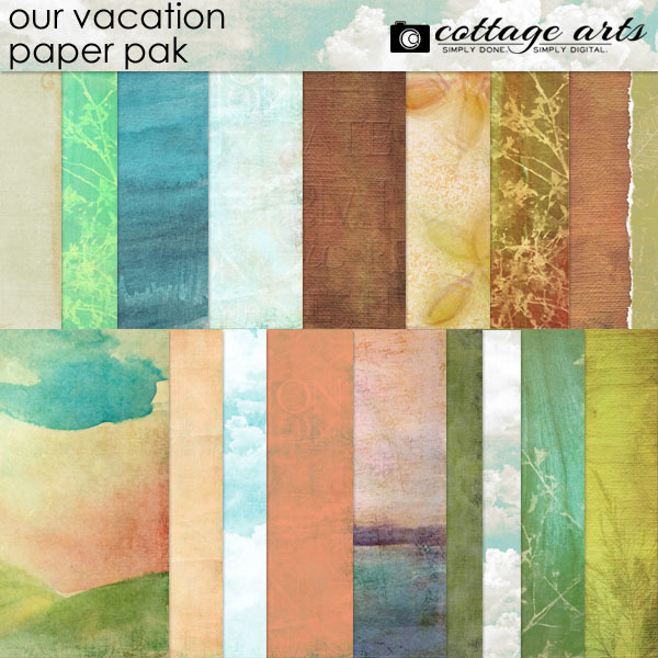 Our Vacation Paper Pak Digital Art - Digital Scrapbooking Kits
