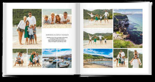 Classic White Collage Photo Book