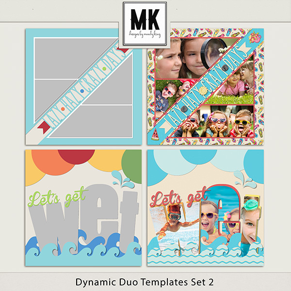 Dynamic Duo Templates Set 2 Digital Art - Digital Scrapbooking Kits