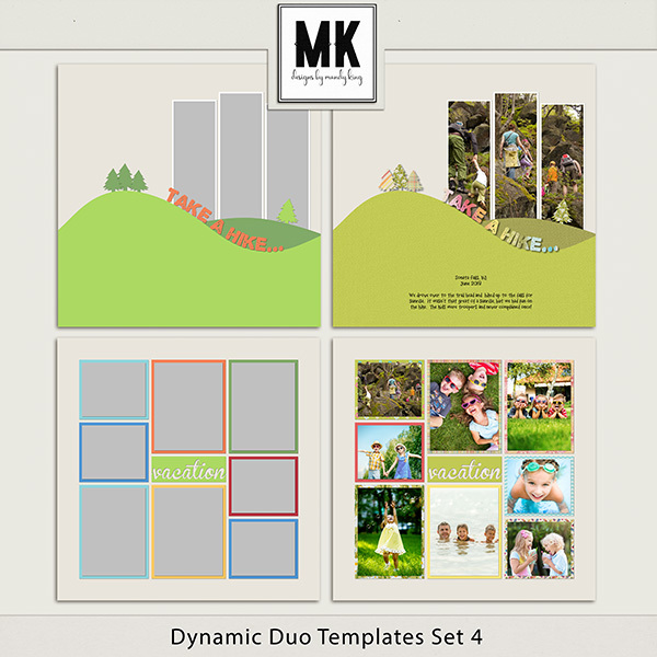 Dynamic Duo Templates Set 4