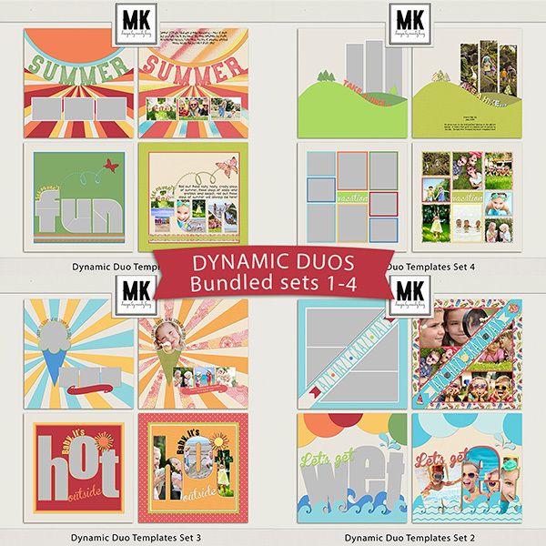 Dynamic Duo Templates Sets 1-4