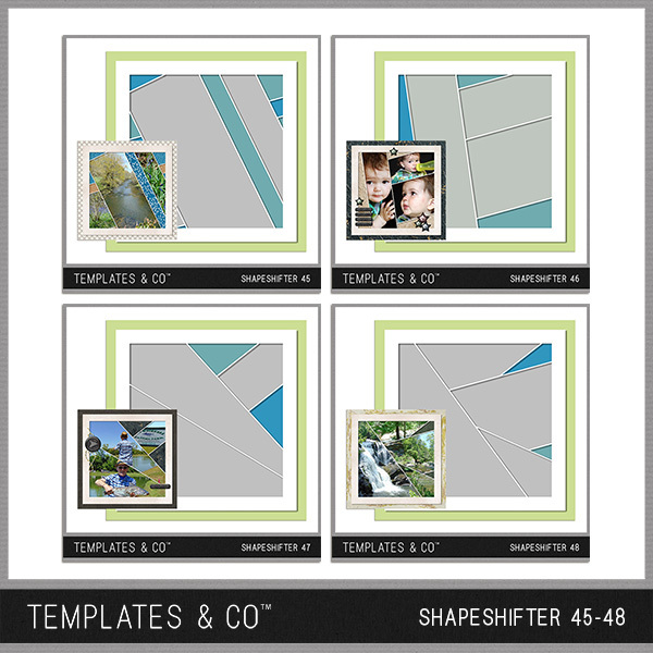 Shapeshifter 45-48 Digital Art - Digital Scrapbooking Kits