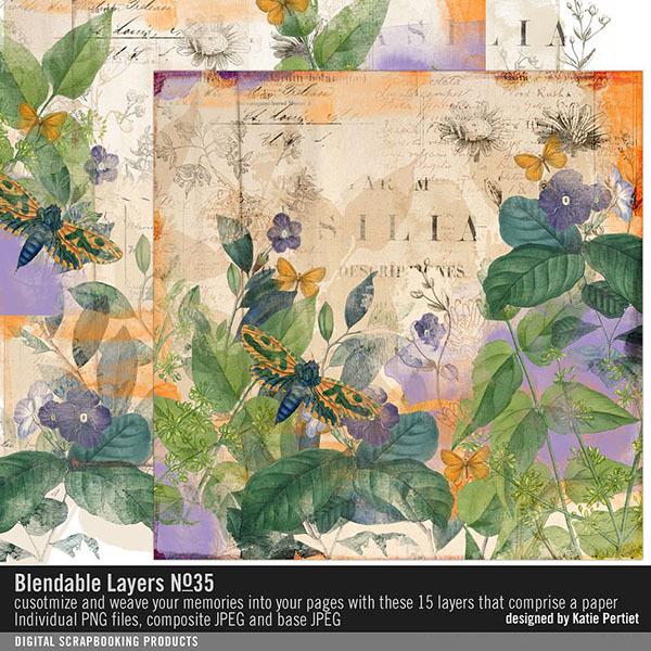 Blendable Layers No. 35 Digital Art - Digital Scrapbooking Kits