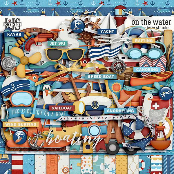 On The Water Digital Art - Digital Scrapbooking Kits