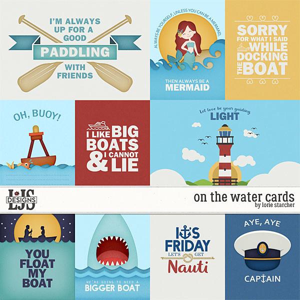 On The Water - Cards Digital Art - Digital Scrapbooking Kits