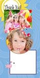 Cheerful Zoo Birthday 4x8 Portrait Photo Card Templates
