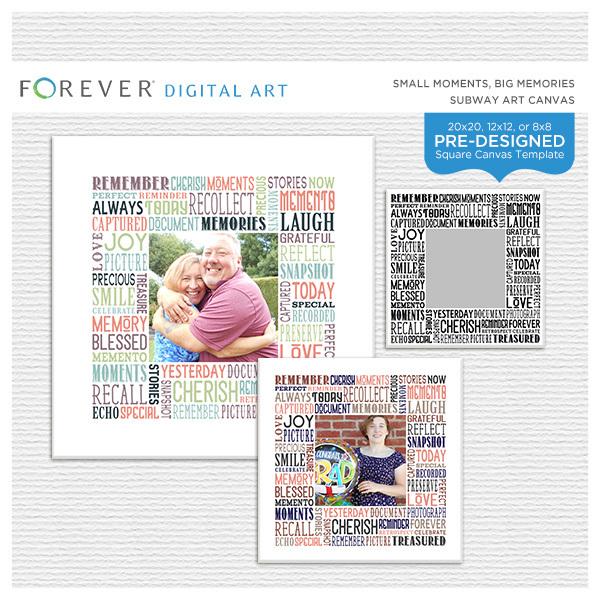 Small Moments, Big Memories Subway Art Canvas Digital Art - Digital Scrapbooking Kits