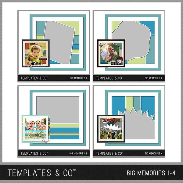 Big Memories 1-4 Digital Art - Digital Scrapbooking Kits
