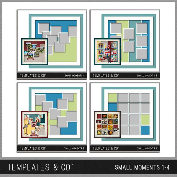 Small Moments 1-4 Digital Art - Digital Scrapbooking Kits