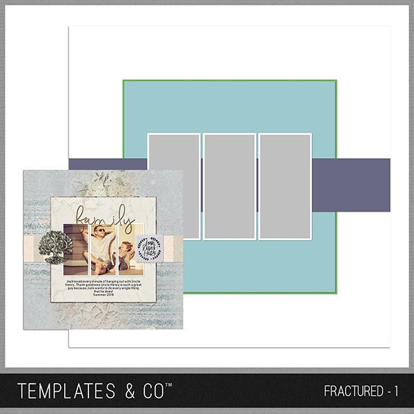 Fractured - 1 Digital Art - Digital Scrapbooking Kits