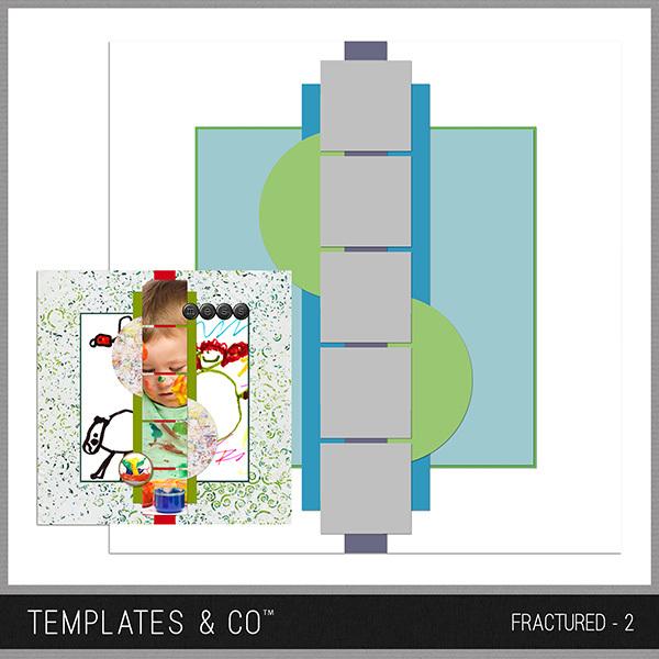 Fractured - 2 Digital Art - Digital Scrapbooking Kits