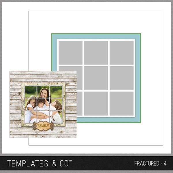 Fractured - 4 Digital Art - Digital Scrapbooking Kits