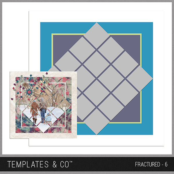 Fractured - 6 Digital Art - Digital Scrapbooking Kits