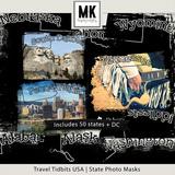 Travel Tidbits USA States Photo Masks