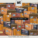 Travel Tidbits USA States Suitcases