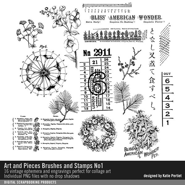 Art and Pieces Brushes and Stamps No. 01