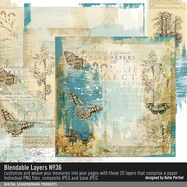 Blendable Layers No. 36 Digital Art - Digital Scrapbooking Kits