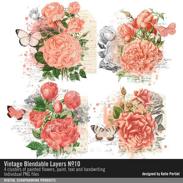 Vintage Blendable Layers No. 10 Digital Art - Digital Scrapbooking Kits