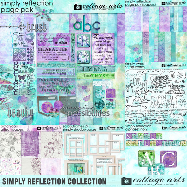 Simply Reflection Collection Digital Art - Digital Scrapbooking Kits