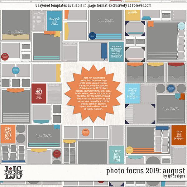 Photo Focus 2019 - August Digital Art - Digital Scrapbooking Kits