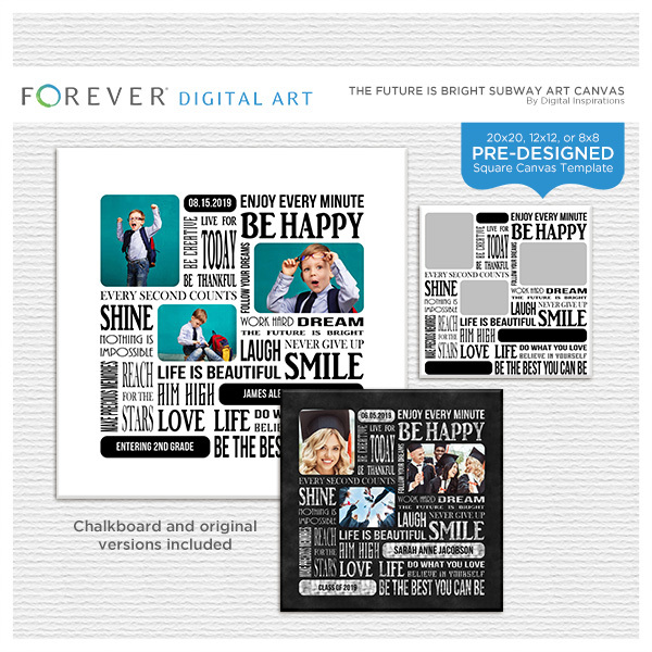 The Future Is Bright Subway Art Canvas Digital Art - Digital Scrapbooking Kits