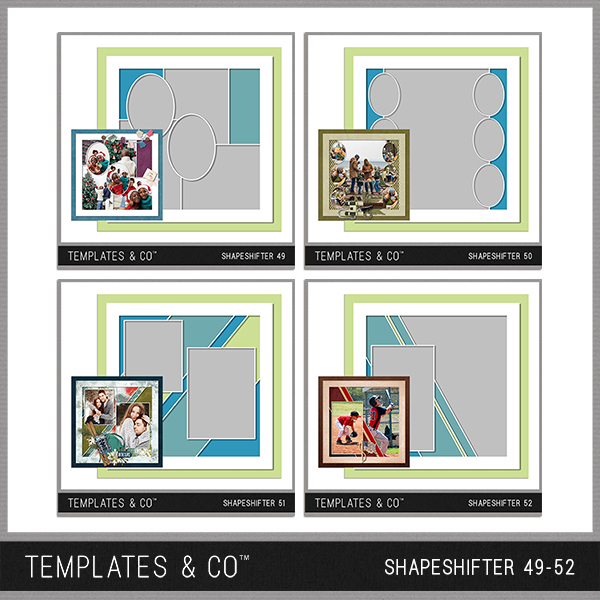 Shapeshifter 49-52 Digital Art - Digital Scrapbooking Kits