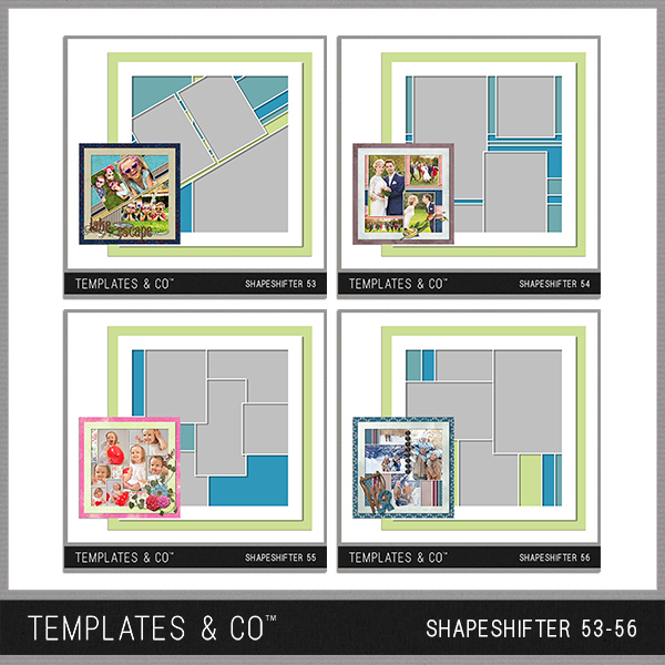 Shapeshifter 53-56 Digital Art - Digital Scrapbooking Kits