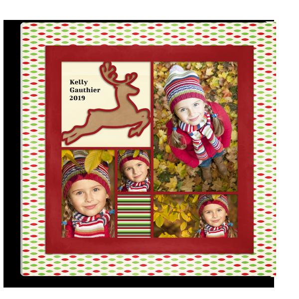 Holiday Reindeer Panel Panel